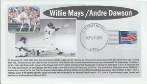 6° Cachets Willie Mays and Andre Dawson make baseball history on September 22