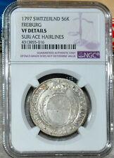 NGC XF Switzerland Swiss 1797 Freiburg Silver Coin 56 Kreuzer Surface Hairlines