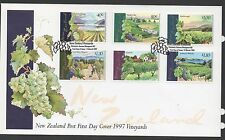 New Zealand 1997 FDC Vineyards set stamps