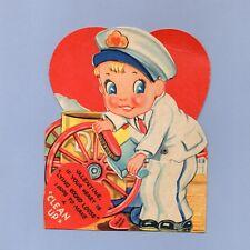 Vintage Valentine Card Valentine'S Day Clean Up Garbage Man 1930s Sanitation