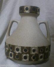 West German Pottery Vase Red Black Fat Lava Schlossberg Vtg 271 60s Mid Century