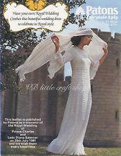 Lady's wedding robe et châle crochet Pattern. Copie de VINTAGE MAGAZINE.