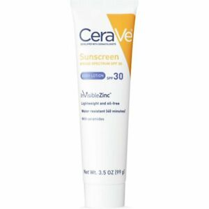 CeraVe Sunscreen Broad Spectrum Body Lotion SPF 30 3.5 Oz Expired