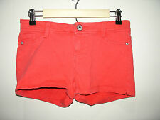 Wet Seal Size L (30) Red Casual/Sweat Short Shorts Stretch 305-7715