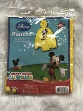 Disney Mickey Mouse Clubhouse Youth Minnie Rain Poncho One Size Fits All NEW