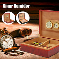 20-25 Cigar Humidor Wood Cedar Lined Storage Case Box Humidifier Hygrometer New