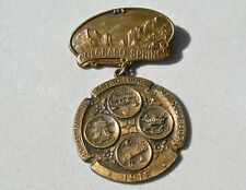 ca 1915 COLORADO SPRINGS CO MULTI-PICTORIAL ODD FELLOWS FLT HANGING MEDAL GREAT