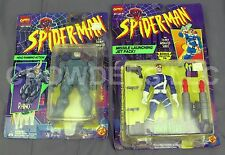Marvel Comics Spider-Man New Animated Series NICK FURY 95 & RHINO 94 ToyBiz NIP