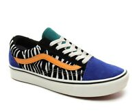 Vans Old Skool Zebra Comfy Cush Skate Shoes (Tidepool/Surf the web)
