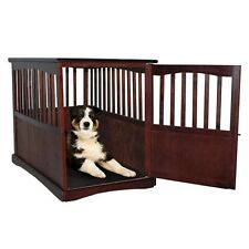 indoor dog crate kennel cage wooden end table furniture pet pen bed house large
