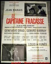 LE CAPITAINE FRACASSE - Jean Marais - AFFICHE 120x160 / 47x63 FRENCH POSTER
