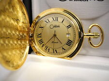 Watch W/Date New reduced Colibri Goldtone Gold Face Pocket