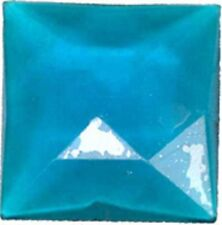 25mm turquoise square faceted glass jewel flat back
