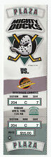 DUCKS VS CANUCKS 1996 FULL TICKET STUB MINT 4/8/96 SELANNE 2 ASSISTS HEBERT WIN