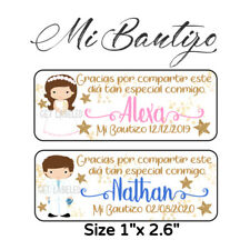 60 Pc Mi Bautizo Stickers Para Recuerdos, Favors & Goodie Bags #3