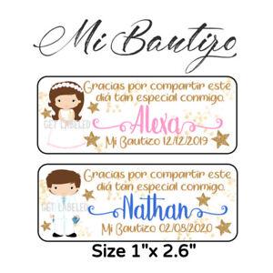 60 Pc Mi Bautizo Stickers Para Recuerdos, Favors & Goodie Bags #3