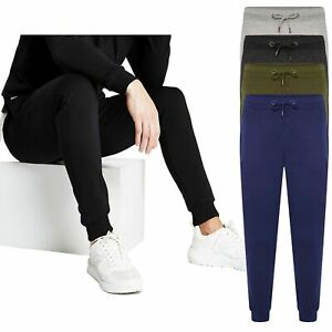 Mens River Road Slim Jogging Bottoms Fleece Joggers Sport Gym Pockets Tracksuit