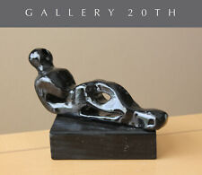 """RELAXED FIGURE"" MID CENTURY ABSTRACT SCULPTURE! AFTER HENRY MOORE VTG 50'S ART"