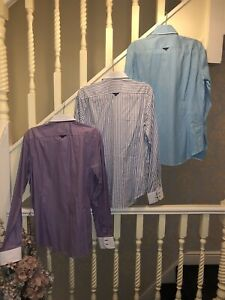 """Camicie 7 Mens Shirt """" All Three Shirts"""" Double Collar Cotton"""