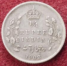 L'Inde quarter rupee 1908 (C1212)