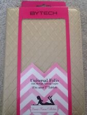 """Bytech Universal 7"""" Tablet Case Bonnie Marcus Collection Gold Quilted"""