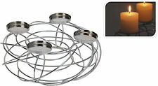Chrome Candle Holder 4 Candles Centrepiece Weddings Christmas Table Decoration