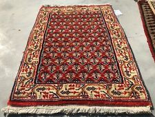 Authentic Hand Knotted Vintage Indo Wool Area Rug 2.0 x 1.4 Ft (9262 Bn)