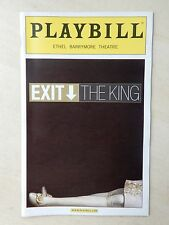 March 26th, 2009 - Opening Night - Ethel Barrymore Playbill - Exit The King