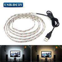US 5V 50CM 1M-5M USB Cable Power LED Strip Light Tape Warm /White/RGB Background