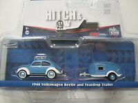 1948 Volkswagen Beetle + Teardrop Caravan, Greenlight 1:64 lim. Edition
