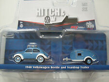 1948 Volkswagen Beetle + Teardrop Caravan, Greenlight 1:64 Lim. Edition