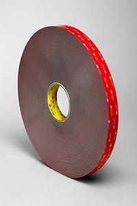 3M VHB 5952F Acrylic Foam Double Sided Bond Tape 12mm 19mm 25mm 1-20 metre Rolls