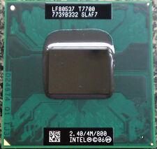 Intel Core 2 Duo T7700 2.4 GHz 800MHz Dual-Core Processor Socket P Mobile CPU