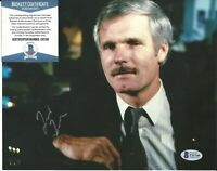 Ted Turner Signed Auto 8x10 Photo Autograph Beckett BAS COA Media Proprietor CNN