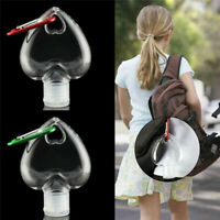 5/10Pcs 50ml Empty Refillable Bottles With Key Ring Heart Shape Container Travel
