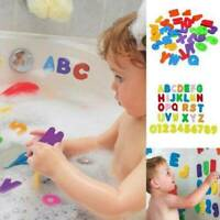 36Pc/Bag Bath Learn Letters & Numbers Baby Bathroom Stick Water EVA Toy X9X2