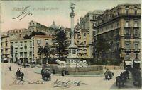 NAPOLI - La Piazza dei Martiri - ANIMATISSIMA - VIAGGIATA NEl 1904 - rif. 1046