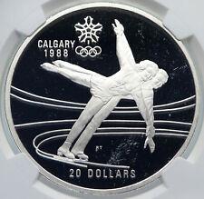 1987 CANADA 1988 CALGARY OLYMPICS Ice Skating Proof Silver $20 Coin NGC i85248