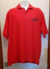 NASCAR Racing XL Red Polo Shirt Men's Retro Graphic One Hot Night Charlotte NC