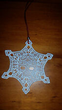 Christmas Ornament - Free Standing Lace Skull