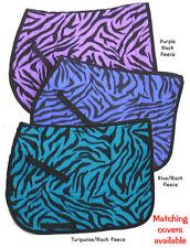 pretty  PURPLE TIGER ZEBRA animal print nice ENGLISH SADDLE PAD-  sattel numnah