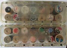 Vintage Lot Of 2 Tidee Maid thread box holder  Includes Wooden Spools