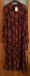 Oasis curve ladies floral print midi dress size 3XL  22/24