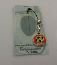 Soccer ball kick Cell phone charm purse strap cool sports