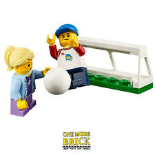 LEGO City Football Pitch Goal with boy & girl minifigure - from City Park NEW