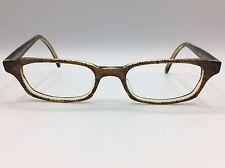 City Optix Eyeglasses Brown snakeskin pattern Handmade 47-18-145 w/ case