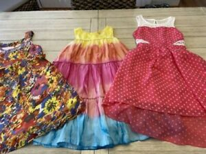 LOT OF GIRLS YOUTH DRESSES, SIZE 10, JUSTICE, Pandemanium, pink & violet