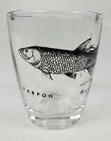 Shot Glass Collectible MB Tarpon Game Sport Fish Fishing Bar Shooter