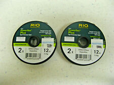 (2) RIO Powerflex Plus Tippet HIGH PERFORMANCE 2X 12 LB 5.5 KG FRESHWATER NEW