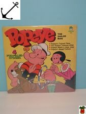 Popeye the Sailor Record album Rp 33 1979 Sealed! 4 Fun Filled Stories